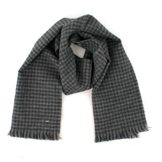 Saint Laurent Grey Checked scarf