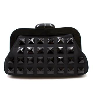 Lulu Guinness Black Embellished Clutch