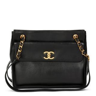 Chanel Black Lambskin Vintage Classic Shoulder Bag