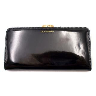 Lulu Guinness Black Smooth Flat Frame Purse