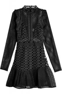 Self Portrait Hall Black Mini Dress
