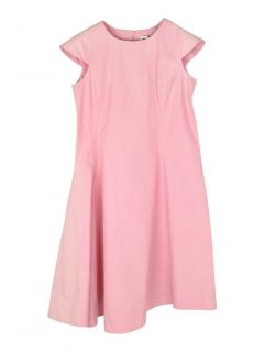 Jil Sander Asymmetrical Hem Sleeveless Pink Dress