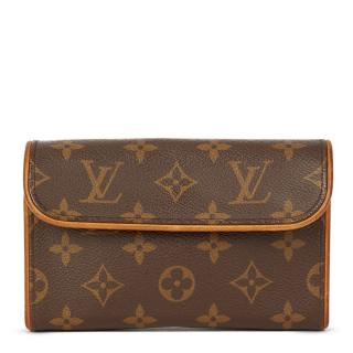 Louis Vuitton Brown Coated Canvas Pochette Florentine