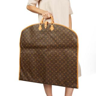 Louis Vuitton Brown Coated Canvas Vintage Garment Bag