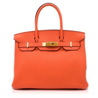 Hermes 30cm Poppy Orange Togo Birkin