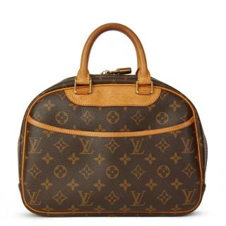 Louis Vuitton Brown Coated Canvas Trouville