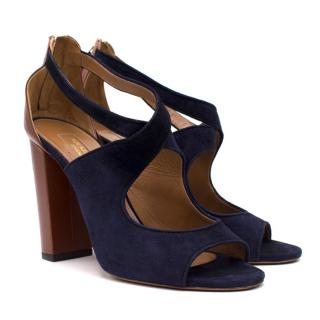Aquazzura Navy Open-toe Heel