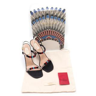 Valentino Aztec Beaded Strappy Heels