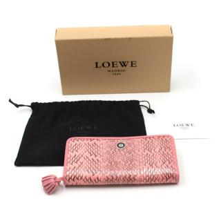 Loewe Python Leather Wallet
