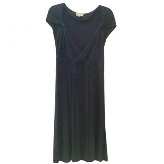 Issa dark navy silk dress, size 14