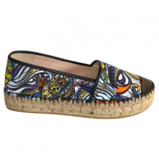 Emilio Pucci Canvas and Leather Espadrilles