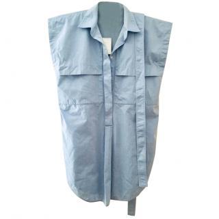 Marlene Birger Blue Cotton Tunic/Dress NEW size 34