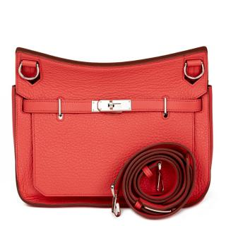 Hermes Bourgainville Clemence Leather Jypsiere Bag