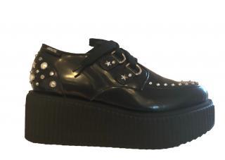 Karl Lagerfeld Studded Black Platforms