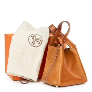 Hermesl Bareina Natural Leather Picotin PM