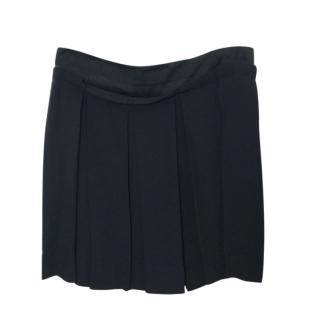 See by Chloe Black Pleated Mini Skirt