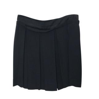 See by Chloe Black Pleated Mini Skirt