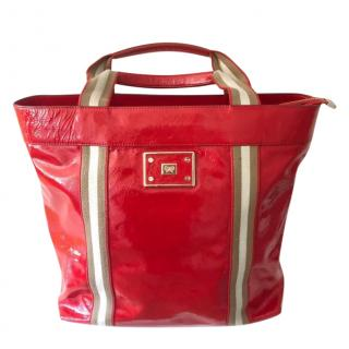 Anya Hindmarch Red Patent Large Tote Bag