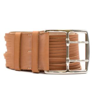 Hermes Tan Wide Belt