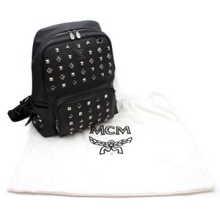 MCM Black Studded Backpack