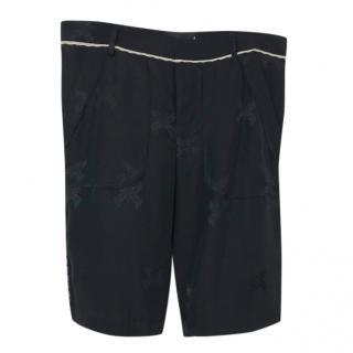Zadig & Voltaire Black Silk Shorts