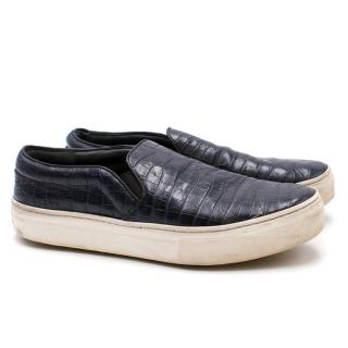Celine Leather Slip-On Sneakers