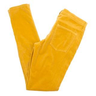 Current Elliott 'The Skinny' Marigold Velvet Jeans