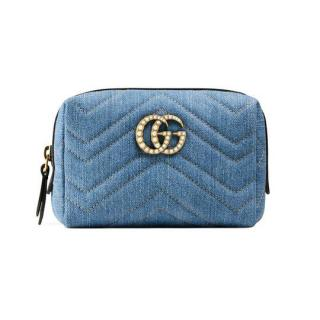 Gucci GG Marmont Denim Cosmetic Pouch