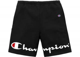 Champion x Supreme Black Shorts