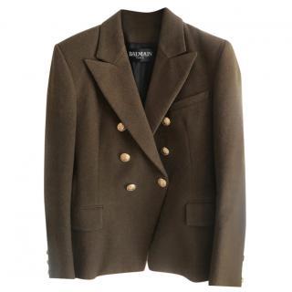 Balmain Khaki Wool Blazer