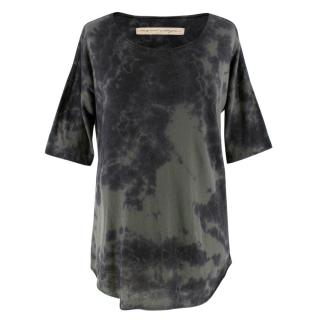 Raquel Allegra Green and Charcoal Tie-Dye T-Shirt