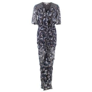 Veronica Beard Patterned Silk Dress