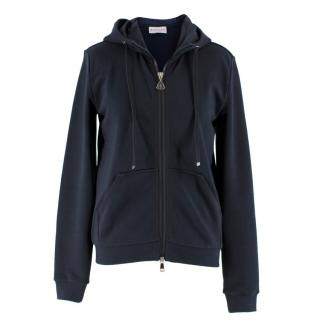 Moncler Navy Zip-Up Hooded Jacket