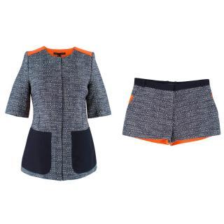 Victoria Beckham Tweed Jacket and Shorts Set