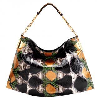 Gucci Metalic Python Skin Bag