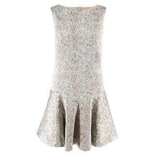 Alice + Olivia Metallic Drop Waist Dress