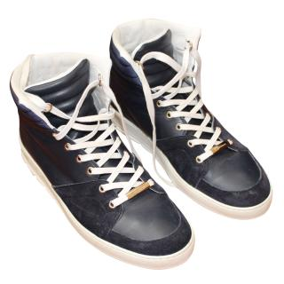 Dior Navy Blue High Top Sneakers