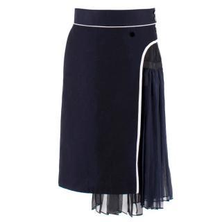 Sacai Silk-Blend Skirt