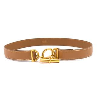 Hermes Tan Chaine d'Ancre & Toggle Belt