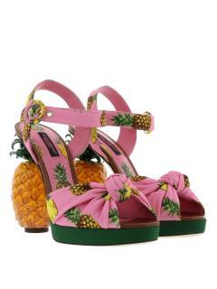 Dolce & Gabbana Crepe Platform Sandals