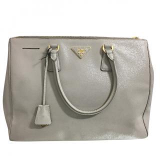Prada Saffiano Double-Zip Tote Bag