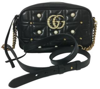 Gucci Matelasse Pearl & Stud Marmont Bag