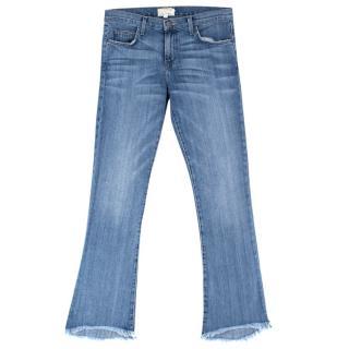 Current Elliott Flared Frayed Hem Jeans