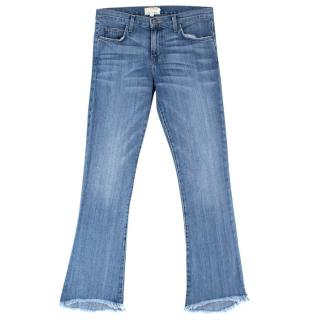 Current Elliott Flared Frayed Hem Jeans
