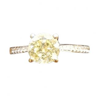 1.40 Carat Yellow Diamond IGI Certified Ring