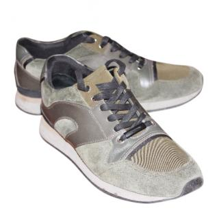 Dior Grey Suede and Calfskin Sneakers