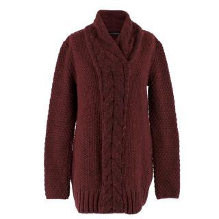 Balenciaga Burgundy Wool Sweater