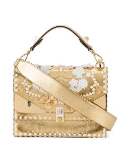 Fendi Gold Floral Bug Kan I Shoulder Bag