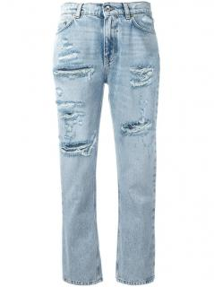 Dolce & Gabbana Strawberry Appliqued Jeans