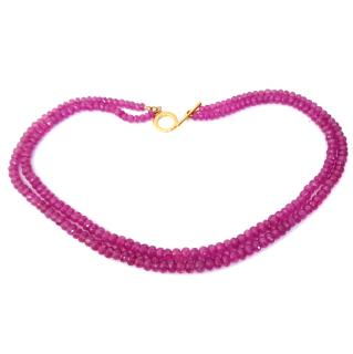 Bespoke Pink Sapphire Necklace 57ct Feature Clasp